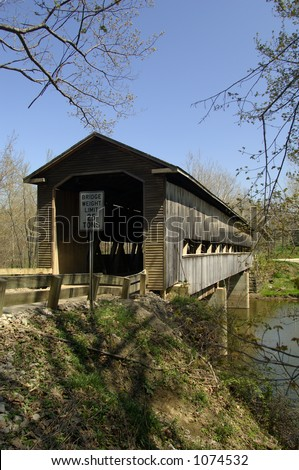 Middle Road Bridge - over Conneaut Creek - Howe truss type - built 1868 - 148' long -Ashtabula Co., OH