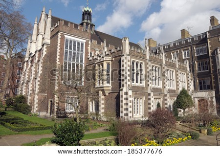 Middle Temple Hall, Inns of Court, London - stock photo