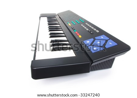 Midi keyboard. Isolated in white background.