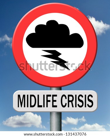 midlife crisis middle age depression and living second youth - stock photo