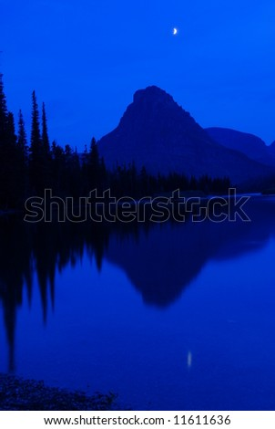 Midnight over Prayer Lake - stock photo