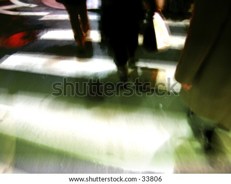 Midtown cross walk - stock photo