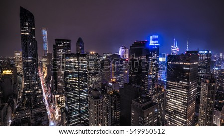Midtown Manhattan at Night, New York City, USA