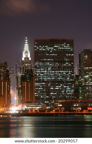 Midtown Manhattan skyline at Night Lights, NYC