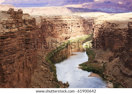 mighty Colorado river - stock photo
