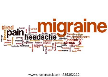 Migraine word cloud concept - stock photo