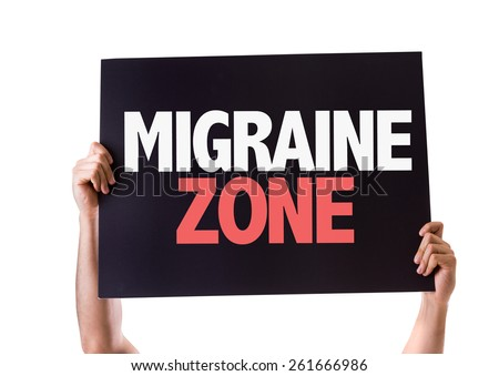 Migraine Zone card isolated on white - stock photo