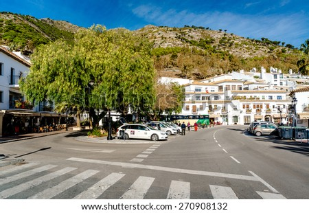 Mijas, Spain- January 05, 2014: Day view of Mijas. Mijas is a lovely Andalusian town on the Costa del Sol. Spain