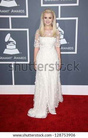 Mika Newton at the 55th Annual GRAMMY Awards, Staples Center, Los Angeles, CA 02-10-13 - stock photo