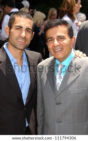 Mike Kasem and Casey Kasem at the Ceremony honoring Mike Curb with a star on the Hollywood Walk of Fame. Vine St, Hollywood, CA. 06-29-07 - stock photo