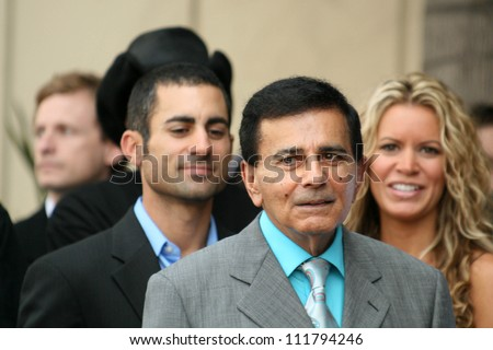 Mike Kasem with Casey Kasem and Amy Peterson at the Ceremony honoring Mike Curb with a star on the Hollywood Walk of Fame. Vine St, Hollywood, CA. 06-29-07 - stock photo