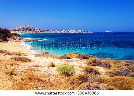 Mikri Vigla beach on Naxos island, Greece