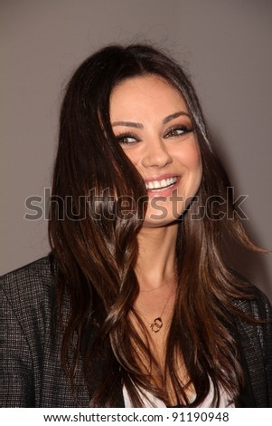 Mila Kunis at the Jaguar Land Rover Preview Reception For 2011 Los Angeles Auto Show, Two Rodeo, Beverly Hills, CA 11-15-11