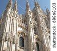 Milan Cathedral (Duomo di Milano), in Italy - stock photo