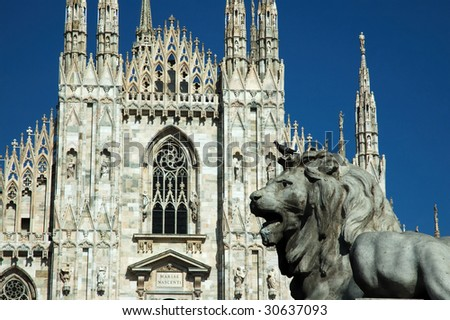 Milan Cathedral (Italian: Duomo di Milano; Milanese: Domm de Milan) is the cathedral church of Milan in Lombardy, northern Italy. It is the seat of the Archbishop of Milan