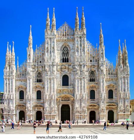 Milan dome - italian landmarks series - stock photo