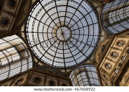 MILAN-ITALY -APRIL-9-2016: Luxury shop in Galleria Vittorio Emanuele at Milan, Italy