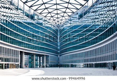 MILAN, ITALY - APRIL 6: Palazzo Lombardia in Milan on April 6, 2012, This building, inaugurated in March 2011, is Lombardy regional government seat and was designed by Pei Cobb Freed & Partners - stock photo