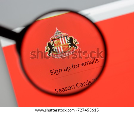 Milan, Italy - August 10, 2017: AFC Sunderland