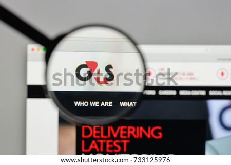 Milan, Italy - August 10, 2017: G4S logo on the website homepage.