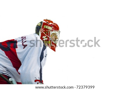 MILAN, ITALY - FEB 24: Paolo Della Bella of HC Milano during a game against the Appiano Agora  Arena on February 24, 2011, in Milan - stock photo