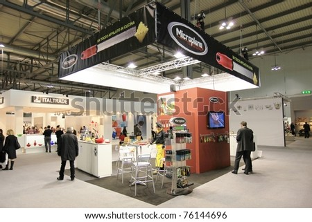 MILAN, ITALY - JANUARY 28: People visit design and interior decoration products stands area at Macef, International Home Show Exhibition on January 28, 2011 in Milan, Italy.