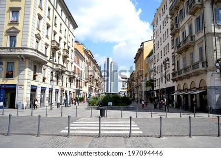 MILAN, ITALY - JUNE 1: Corso Como on june 1, 2014 in Milan.  - stock photo