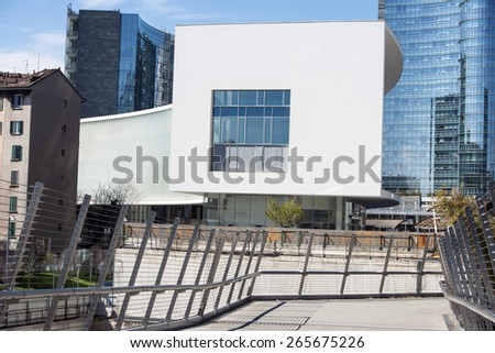 MILAN, ITALY-MARCH 31, 2015: new modern buildings architecture of Porta Nuova, in Milan.