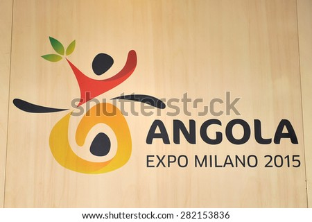 MILAN, ITALY - May 11:  Brand of Angola pavilion at Expo, universal exposition on the theme of food on  May 11, 2015 in Milan, Italy - stock photo