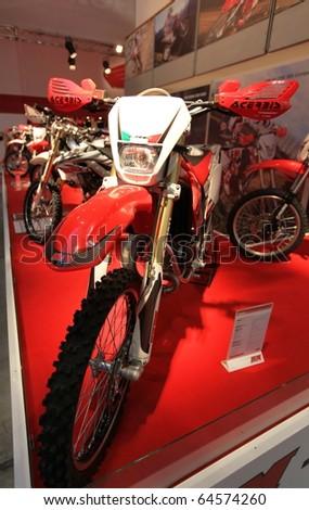 milan italy nov 05 honda motorcycles stock photo 64523431