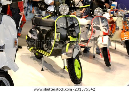 MILAN, ITALY - NOV 8:  Scooter ldm  at EICMA, 72 th International Motorcycle Exhibition November 8, 2014 in Milan, Italy.