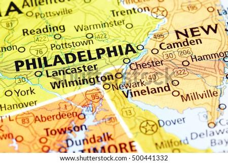 Philadelphia Map Stock Images RoyaltyFree Images Vectors - Philadelphia map