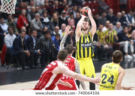 Milan, Italy, october 2017: Melli Nicolo during basketball match AX Armani Exchange Olimpia Milan vs Fenerbahce Dogus Istanbul, EuroLeague 2018, Mediolanum Forum, Milan october 19 2017