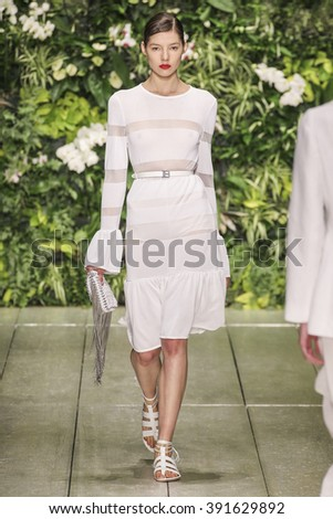 MILAN, ITALY - SEPTEMBER 27: A model walks the runway during the Laura Biagiotti fashion show as part of Milan Fashion Week Spring/Summer 2016 on September 27, 2015 in Milan, Italy.
