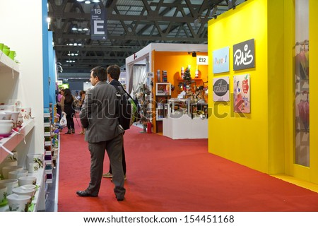 Milan Italy September 12 Booths People Stock Photo 154451168