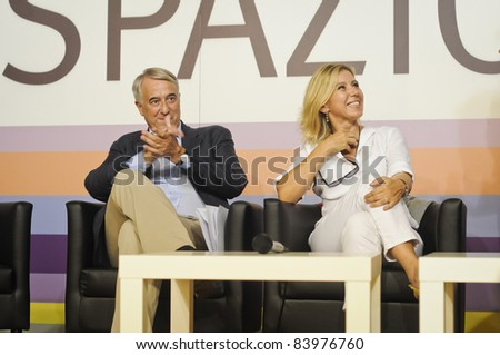 MILAN, ITALY - SEPTEMBER 03: Giuliano Pisapia at the Democratic Party held in Milan September 3, 2011. Present at the party the mayor of Milan Giuliano Pisapia who spoke of the problems of the city