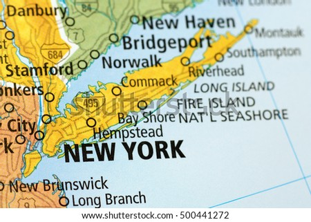 Long Island New York Map Stock Royalty Free