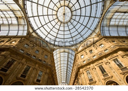 Milan (Lombardy, Italy) - Gallery called Galleria Vittorio Emanuele