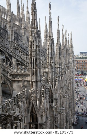 Milan - look from roof of cathedral