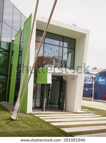 MILAN, MAY 22, 2015: Moldova Pavilion at Expo 2015 in MILAN, ITALY - stock photo