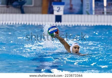 muscular young man blue cap swimming stock photo 175095887 shutterstock