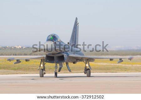 Military aircraft assigned to the combat and other warlike functions - stock photo
