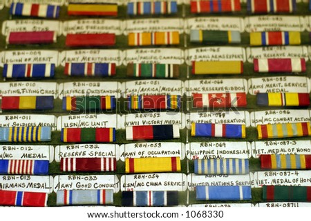 Military Awards - stock photo