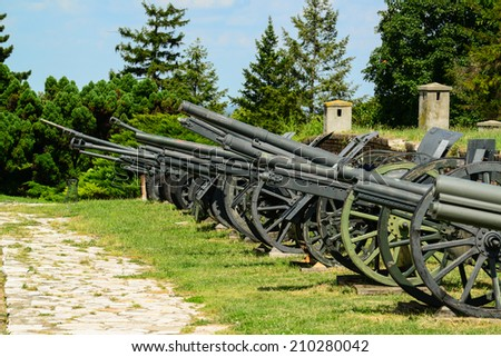 Military canons - stock photo