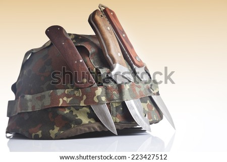 Military equipment - stock photo