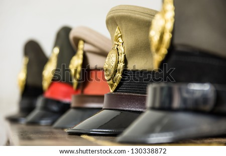Military Hats - stock photo