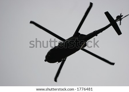 Military helicopter. - stock photo