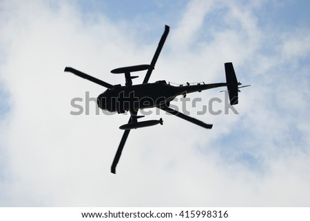 Military helicopter - stock photo