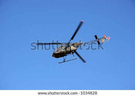 Military Helicopter, Morocco - stock photo