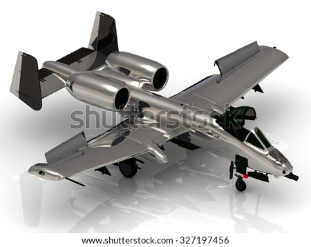 Military jet airplane during airshow on white background